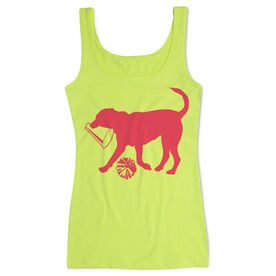 Cheerleading Women's Athletic Tank Top Coco The Cheer Dog