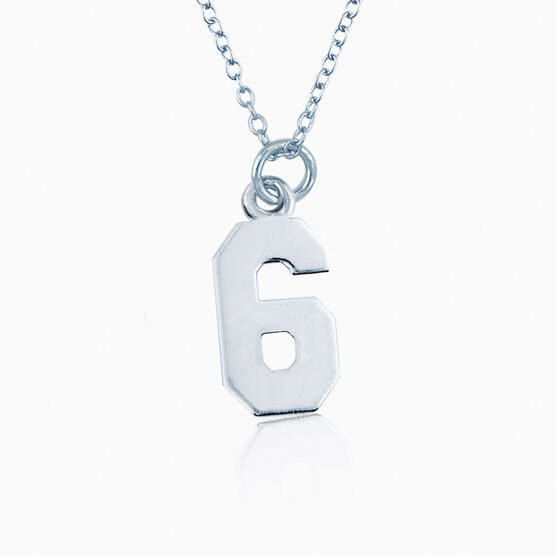 Sterling Silver Jersey Number Necklace