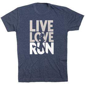 Running Short Sleeve T-Shirt - Live Love Run Silhouette