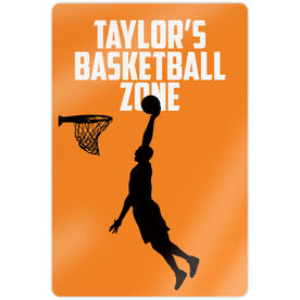 "Basketball 18"" X 12"" Aluminum Room Sign - Personalized Basketball Zone Guy"