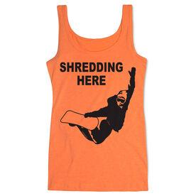Snowboarding Women's Athletic Tank Top Shredding Here