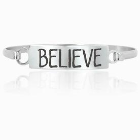 Running Engraved Clasp Bracelet InspireBELIEVE