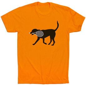 Tennis Tshirt Short Sleeve Tanner the Tennis Dog