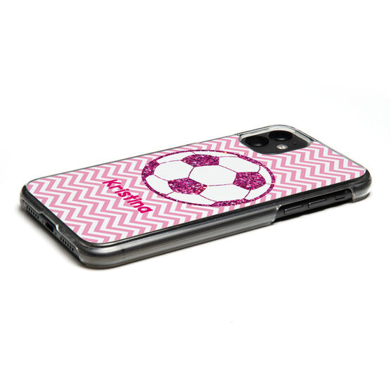 Soccer iPhone® Case - Personalized Glitter Soccer Ball