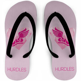 Track and Field Flip Flops Watercolor Your Event