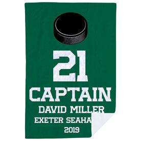 Hockey Premium Blanket - Personalized Captain