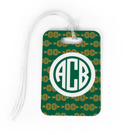 Cross Country Bag/Luggage Tag - Personalized Cross Country Pattern Monogram