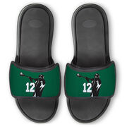 Guys Lacrosse Repwell® Slide Sandals - Lax Jumpshot with Number