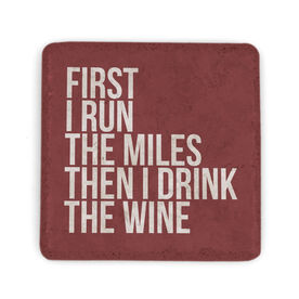 Running Stone Coaster - Then I Drink The Wine