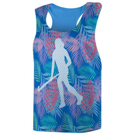 Field Hockey Racerback Pinnie - Tropical Palm Pattern with Silhouette