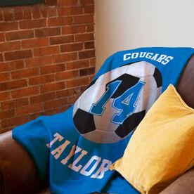 Soccer Premium Blanket - Personalized Team