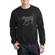 Skiing Crew Neck Sweatshirt - Sven The Ski Dog
