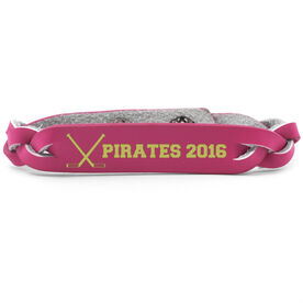 Hockey Leather Engraved Bracelet Your Text