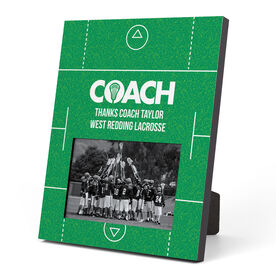 Guys Lacrosse Photo Frame - Coach (Field)