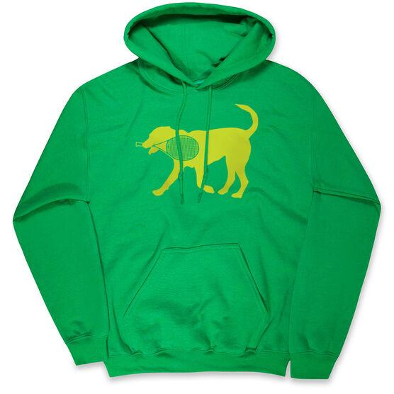 Tennis Hooded Sweatshirt - Tennis Dog