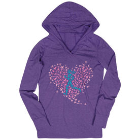 Women's Running Lightweight Performance Hoodie Run With Your Heart