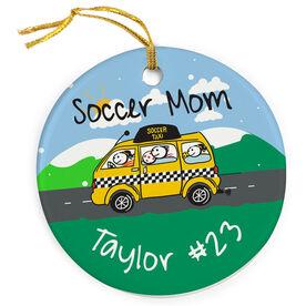 Soccer Porcelain Ornament Mom Taxi