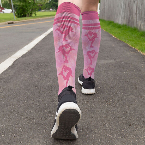 Figure Skating Printed Knee-High Socks - Figure Skater