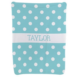 Personalized Baby Blanket - Polka Dots