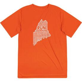 Men's Running Short Sleeve Tech Tee - Maine State Runner