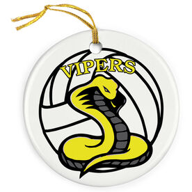 Volleyball Porcelain Ornament Custom Volleyball Logo