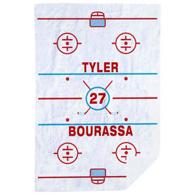 Hockey Premium Blanket - Personalized Ice Rink
