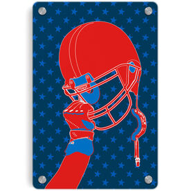 Football Metal Wall Art Panel - Victory