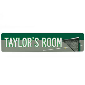 "Tennis Aluminum Room Sign - Personalized Tennis Room (4""x18"")"