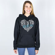 Girls Lacrosse Hooded Sweatshirt - All You Need is Lacrosse and Love