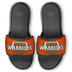 Football Repwell™ Slide Sandals - Football With Text