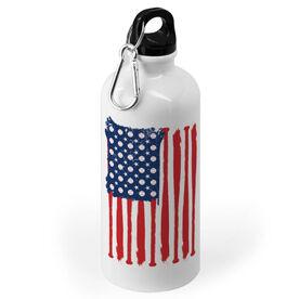 Baseball 20 oz. Stainless Steel Water Bottle - American Flag