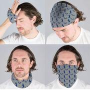 Tennis Multifunctional Headwear - Racket and Male Player Pattern RokBAND