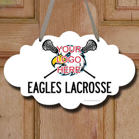 Custom Lacrosse Logo with Team Name Decorative Cloud Sign