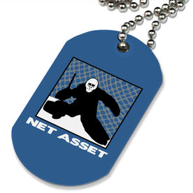 Hockey Net Asset Printed Dog Tag Necklace