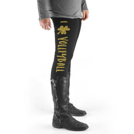 Volleyball High Print Leggings I Shamrock Volleyball