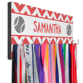 Softball Hook Board Your Name with Softballs Chevron
