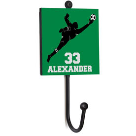 Soccer Medal Hook - Goalie With Name And Number