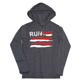 Women's Running Lightweight Hoodie - Run For The Red White and Blue