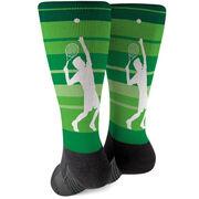 Tennis Printed Mid-Calf Socks - Tennis Guy