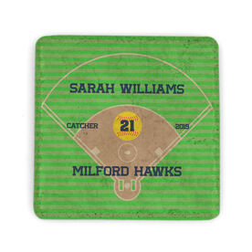 Softball Stone Coaster - Personalized Team