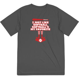 Softball Short Sleeve Performance Tee - Softball's My Favorite