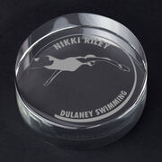 Swimming Personalized Engraved Crystal Gift - Customized Swimmer (Female)