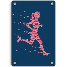Running Metal Wall Art Panel - Heartfelt Run