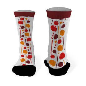 Softball Printed Mid Calf Socks Softball Turkey Pattern