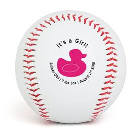 Custom Baseball It's A Girl