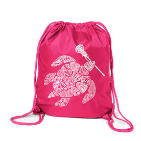 Girls Lacrosse Sport Pack Cinch Sack - Lax Turtle