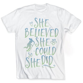 Vintage Field Hockey T-Shirt - She Believed She Could So She Did