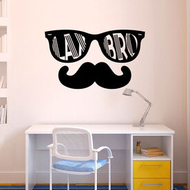 Guys Lacrosse Removable ChalkTalkGraphix Wall Decal - Lax Bro
