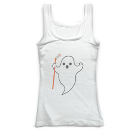 Hockey Vintage Fitted Tank Top - Ghost