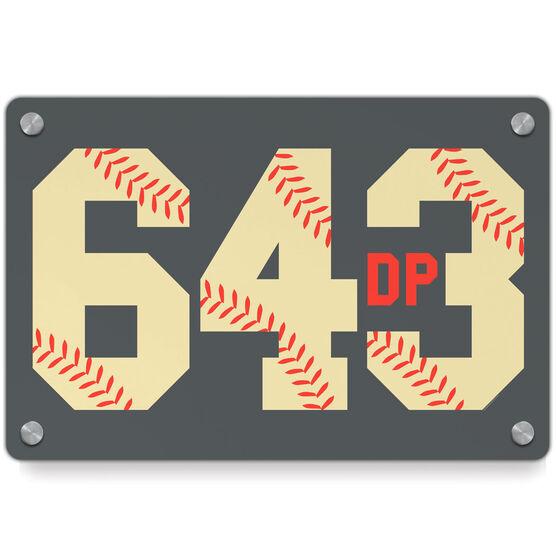 Baseball Metal Wall Art Panel - 6-4-3 Double Play | ChalkTalkSPORTS